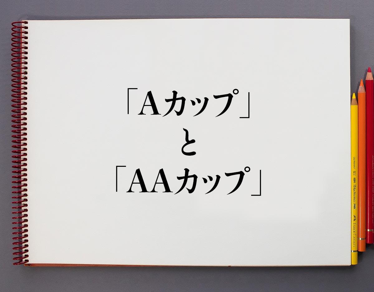 「Aカップ」と「AAカップ」の違い