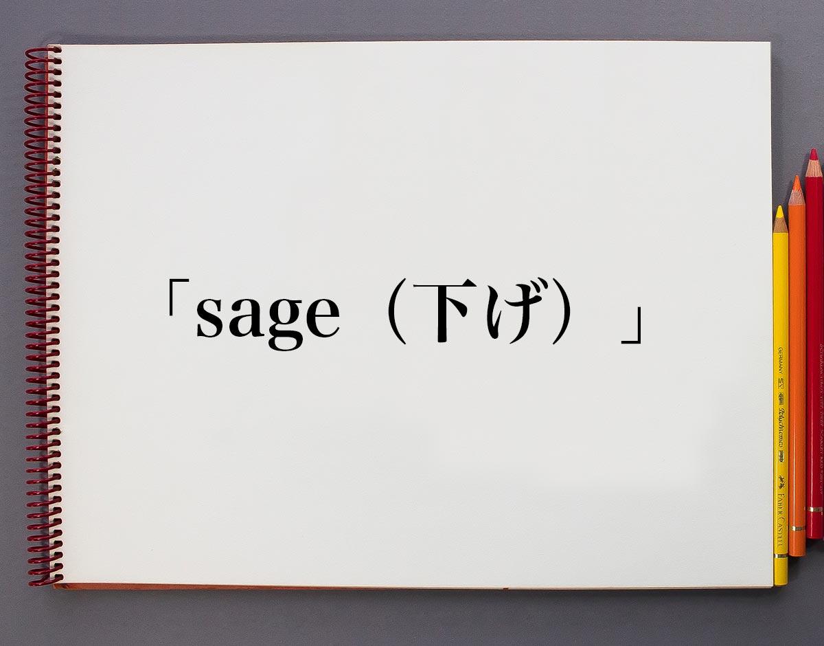 「sage(下げ)」とは意味