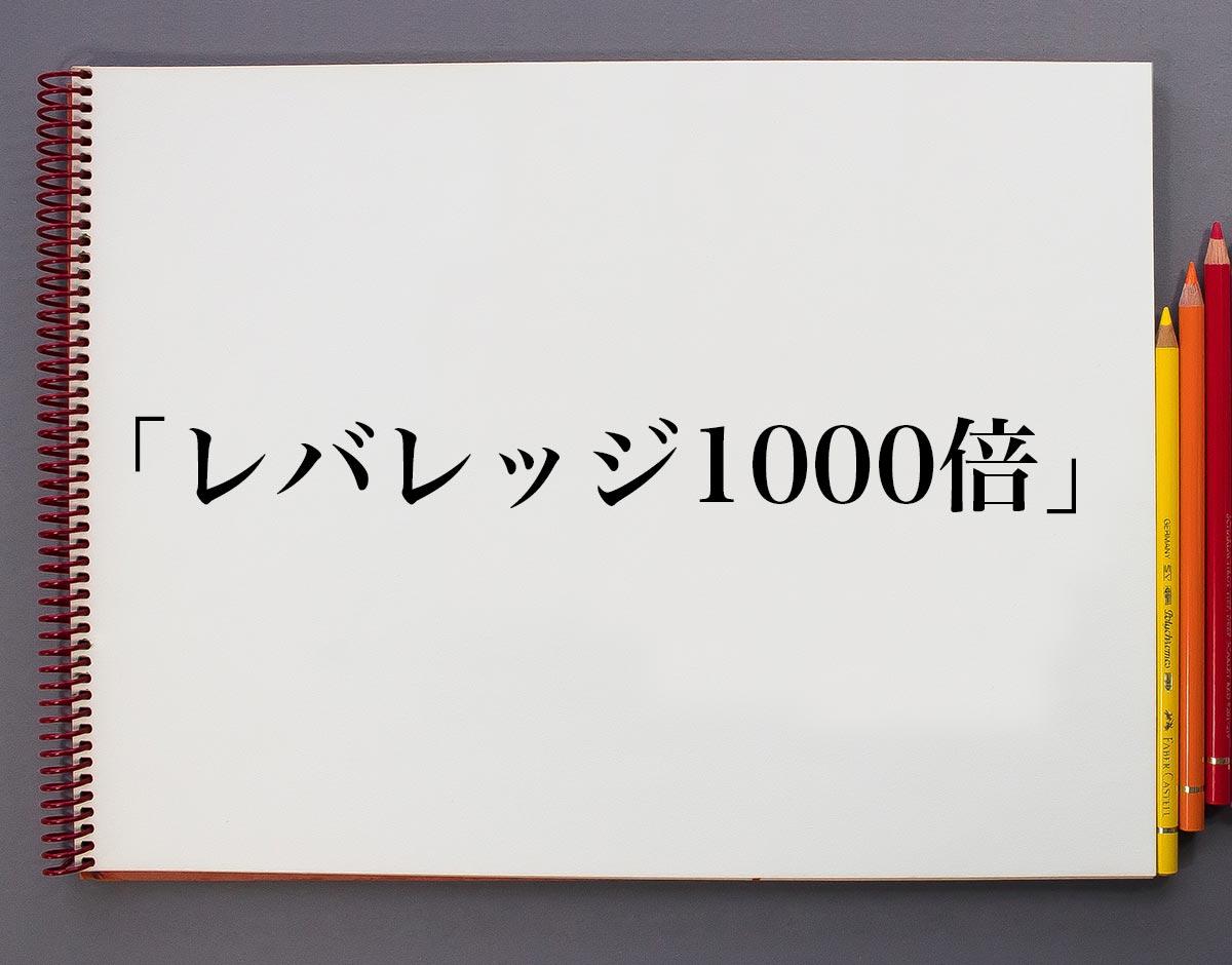 「レバレッジ1000倍」とは